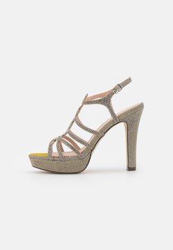 Menbur - Korkeakorkoiset sandaalit - grey