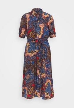 Wallis - PAISLEY SHIRT DRESS - Vestito estivo - blue