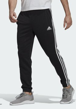 adidas Performance - ESSENTIALS FRENCH TERRY TAPERED 3-STRIPES JOGGERS - Jogginghose - black