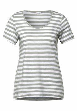Street One - MIT STREIFEN MUSTER - T-Shirt print - grün