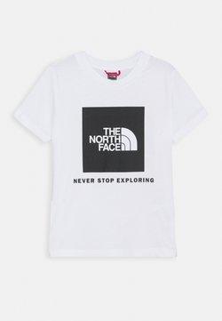 The North Face - BOX TEE UNISEX - Camiseta estampada - white/black
