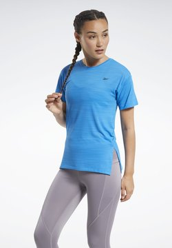 Reebok - WORKOUT READY ACTIVCHILL T-SHIRT - T-Shirt print - blue