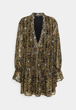 Missguided - PRINT THREAD SMOCK DRESS - Vestido informal - black
