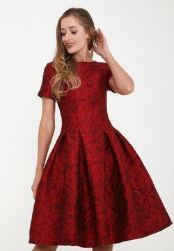 Madam-T - KRISTI - Freizeitkleid - schwarz, rot