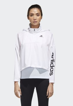 adidas Performance - ACTIVATED TECH WINDBREAKER - Windbreaker - white