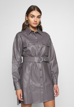 Nly by Nelly - OVERSIZE DRESS - Robe chemise - grey