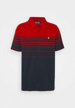 Lyle & Scott - PLACEMENT STRIPE - Poloshirt - chilli pepper red/dark navy