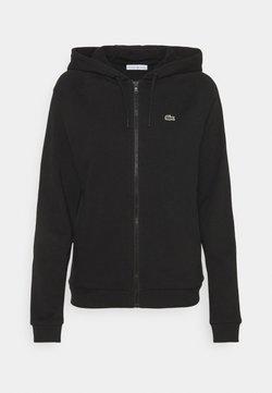 Lacoste Sport - JACKET - Zip-up hoodie - black