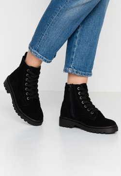 Topshop - BUMBLE LACE UP BOOT - Veterboots - black