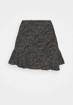 Abercrombie & Fitch - WEBEX RUFFLE SKORT - Minirock - black
