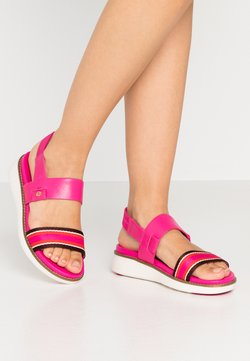 Cole Haan - GLOBAL DOUBLE BAND  - Sandali con plateau - fuschia/purple/multicolor