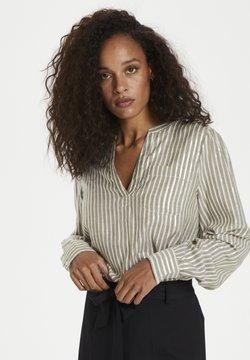 Kaffe - KAEBONY  - Bluse - drizzle/chalk/gold stripes