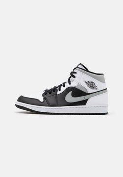 Jordan - AIR 1 MID - Sneaker high - black/light solar flare heather/white