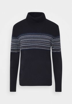 Hackett London - FAIRISLE ROLL NECK - Pullover - multi blue