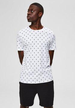 Selected Homme - T-SHIRT BEDRUCKTES REGULAR FIT - Print T-shirt - bright white