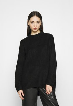 ONLY - ONLPUFFY LONG - Strickpullover - black