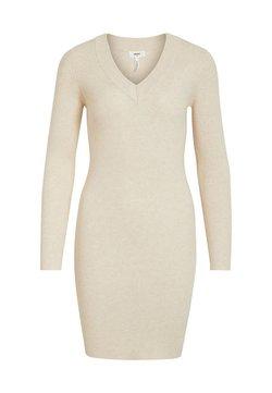 Object - OBJFAE THESS DRESS - Gebreide jurk - sandshell