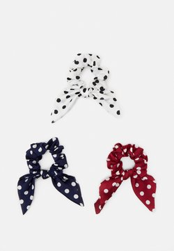 Pieces - PCDOTTY SCRUNCHIE 3 PACK - Haar-Styling-Accessoires - navy blazer/white/red