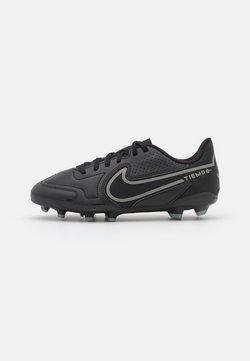Nike Performance - JR. TIEMPO LEGEND 9 CLUB FG/MG UNISEX - Korki Lanki - black/iron grey/metallic bomber gry