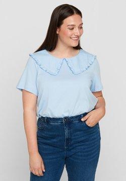 Zizzi - T-shirt con stampa - light blue