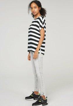 Soccx - MIT STREIFENMUSTER - T-Shirt print - black