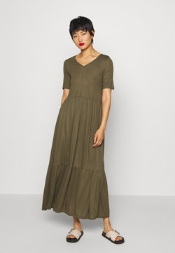 Vero Moda - VMMITSI V-NECK ANCLE DRESS - Maxikjoler - ivy green
