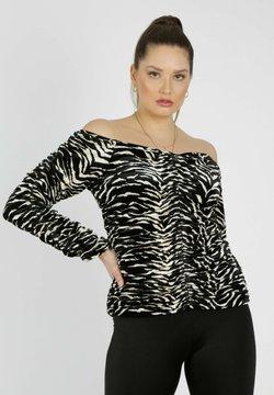 MiaZAYA - ZEBRA  - Langarmshirt - schwarz weiß
