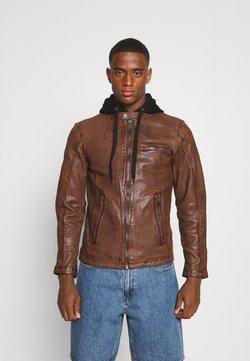 Freaky Nation - BEN HOOD - Leather jacket - cognac