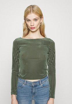 Monki - ULLE - Langarmshirt - khaki green