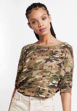G-Star - VIM LOOSE - T-Shirt print - khaki/army green