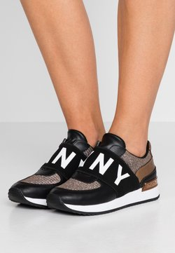 DKNY - MARLI - Loaferit/pistokkaat - black/bronze