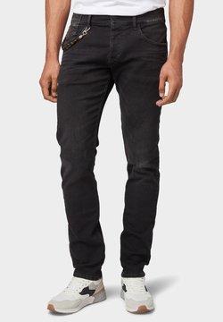 TOM TAILOR - TROY - Jeans Slim Fit - black stone wash denim