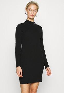 Calvin Klein Jeans - ROLL NECK DRESS - Gebreide jurk - black
