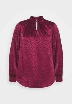 New Look Curves - TWIST NECK - Bluse - dark burgundy