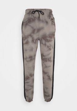 Urban Threads - TIE DYE JOGGERS WITH SIDE PANEL - Jogginghose - grey