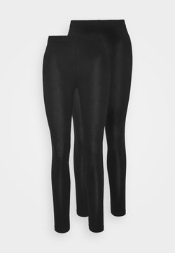 Even&Odd Petite - 2er pack 7/8 legging - Legging - black
