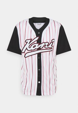 Karl Kani - VARSITY BLOCK BASEBALL - Camisa - black