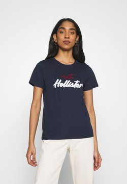 Hollister Co. - TIMELESS - Camiseta estampada - navy