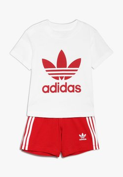 adidas Originals - SET UNISEX - Shorts - white/scarlet