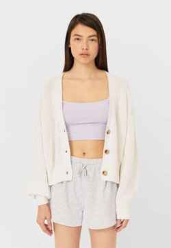 Stradivarius - Strickjacke - white