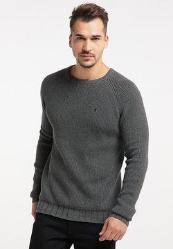 TUFFSKULL - Stickad tröja - dunkelgrau melange