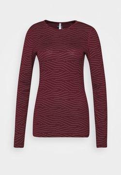 Icebreaker - CREWE NAPASOQ LINES - Unterhemd/-shirt - redwood