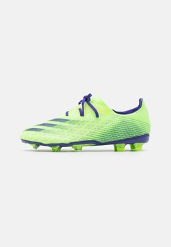 adidas Performance - X GHOSTED.2 FOOTBALL BOOTS FIRM GROUND - Moulded stud football boots - signal green/energy ink/semi solar slime