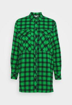 Topshop - CAUSAL OVERSIZE CHECK - Camicia - green