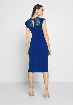 WAL G. - FRILL SLEEVE V PLUNGE NECK DRESS - Vestito elegante - cobalt blue