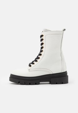 Tommy Hilfiger - RUGGED CLASSIC BOOTIE - Plateaustiefelette - white