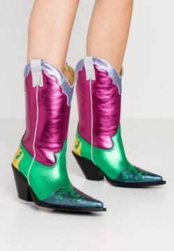 Toral - Cowboy-/Bikerboot - multicolor/pink/green