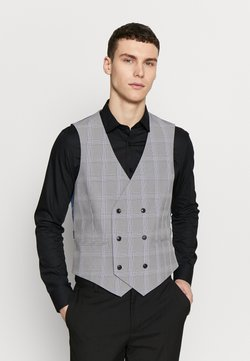 Burton Menswear London - GRAPHIC CHECK - Gilet elegante - grey