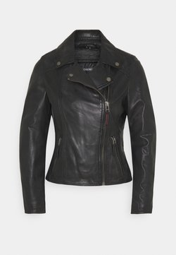 Oakwood - CLIPS - Leather jacket - black