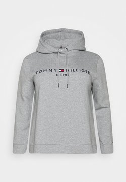 Tommy Hilfiger Curve - HOODIE - Jersey con capucha - light grey heather